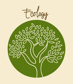 Tree natural — Stock Vector