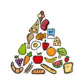 Nutrition design — Stock Vector