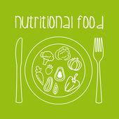 Nutritional food — Stock Vector