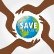save the earth — Stock Vector