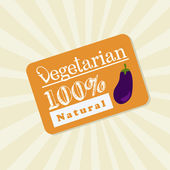 Vegetarian label — Stock Vector