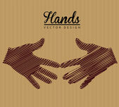 Hands design — Vector de stock