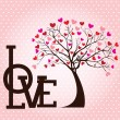 Tree love — Stock Vector