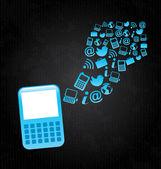 Cellphone — Stock Vector