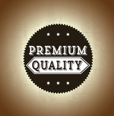 Premium quality design — Stock Vector