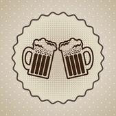 Beers label — Stock Vector