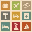 Stockvektor : Vacations icons