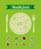 Sağlıklı gıda — Stok Vektör