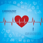 Cardiology design — Stock Vector
