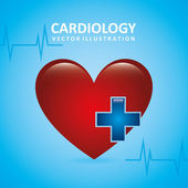 Cardiology design — Stock Vector