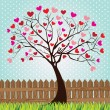 Tree love — Vector de stock