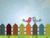 Fåglar design — Stockvektor