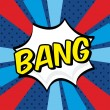 Bang comics icon — Stock Vector