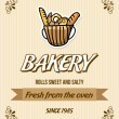 Bakery design — Image vectorielle