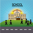 School design — Stockvectorbeeld