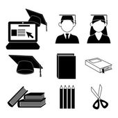 Graduate icons — Stock Vector