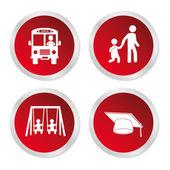 School stickers — Stock Vector