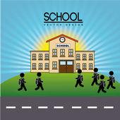 School design — Cтоковый вектор