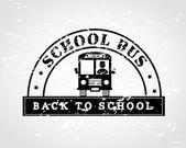Powrót do autobusu szkolnego — Wektor stockowy