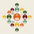 Social network — Vector de stock #30603959