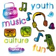 Youth culture — Stock Vector #30604819