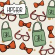 Hipster design — Vector de stock