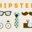 conception de hipster — Vecteur