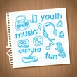 Youth culture — Stock Vector #30605421