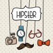 conception de hipster — Vecteur #30605845