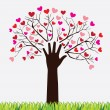 Stock Vector: Tree love
