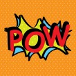 Stock Vector: Pop art pow