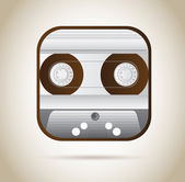 Cassette — Stock Vector