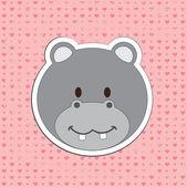 Hippo design — Stock Vector