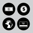 Money icons — Stock Vector #31229737