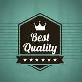 Best quality design — Stock Vector