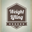 Weight lifting — Stockvektor