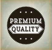 Premium quality design — Stock Vector
