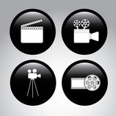 Film icons — Stock Vector