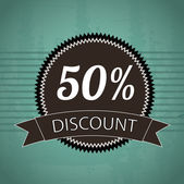 50 percent discount — Stock Vector