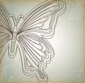 Beau papillon — Vecteur