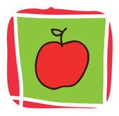 Icono de apple — Vector de stock