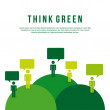 Think green — Stock Vector #31291337