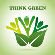 Think green — Stockvectorbeeld