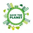 Save the planet — Imagen vectorial