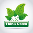 Think green — Stock Vector #31294163