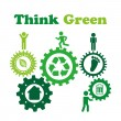 Stock Vector: Think green