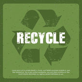 Recycle label — Stock Vector