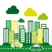 Eco city — Stock Vector