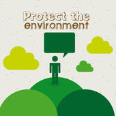 Protect the environment — Stock Vector