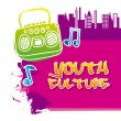 Youth culture — Stock Vector #31383373